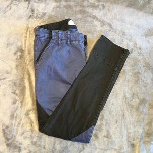 FREE PEOPLE black and blue pants